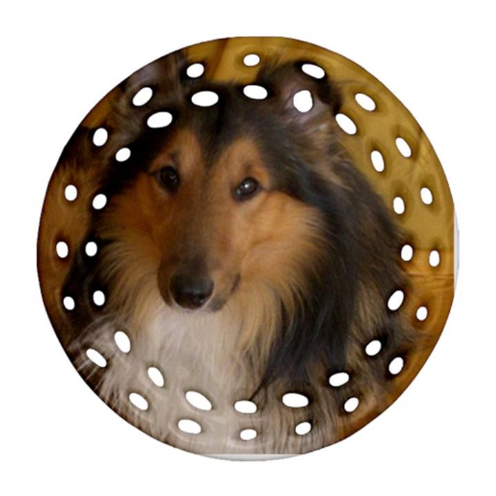 Shetland Sheepdog Ornament (Round Filigree)