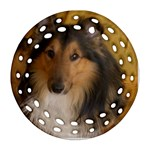 Shetland Sheepdog Round Filigree Ornament (2Side) Front