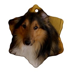 Shetland Sheepdog Snowflake Ornament (2-Side)