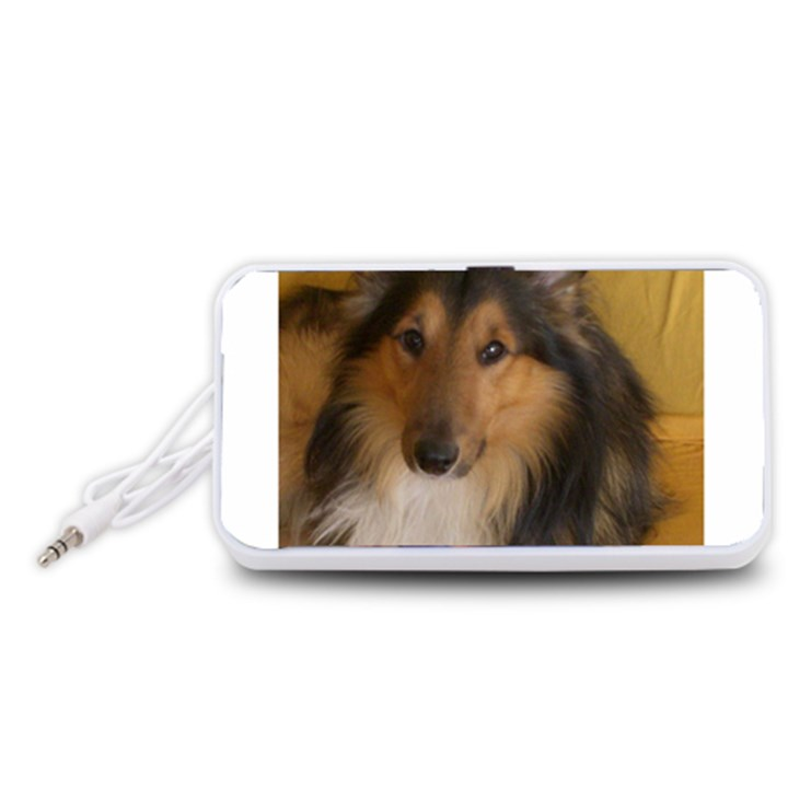 Shetland Sheepdog Portable Speaker (White)