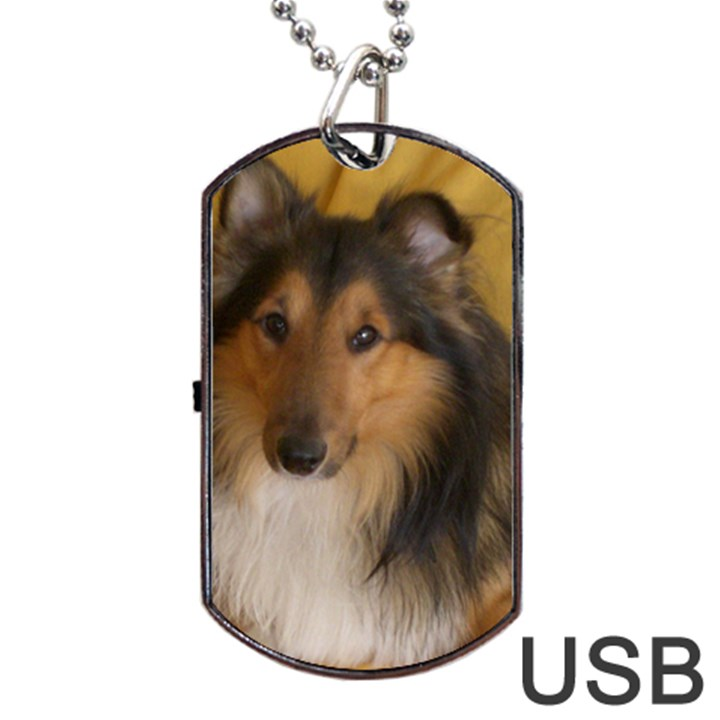 Shetland Sheepdog Dog Tag USB Flash (One Side)