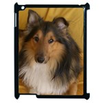 Shetland Sheepdog Apple iPad 2 Case (Black) Front