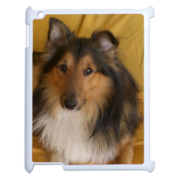 Shetland Sheepdog Apple iPad 2 Case (White)