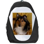 Shetland Sheepdog Backpack Bag Front