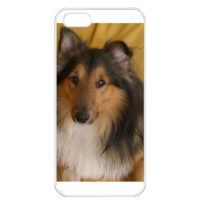 Shetland Sheepdog Apple iPhone 5 Seamless Case (White)