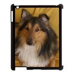 Shetland Sheepdog Apple iPad 3/4 Case (Black) Front
