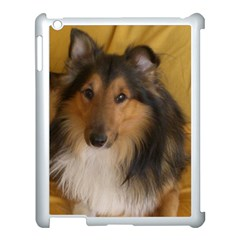 Shetland Sheepdog Apple iPad 3/4 Case (White)