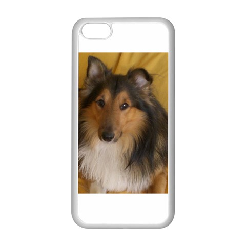 Shetland Sheepdog Apple iPhone 5C Seamless Case (White)