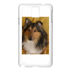 Shetland Sheepdog Samsung Galaxy Note 3 N9005 Case (White)