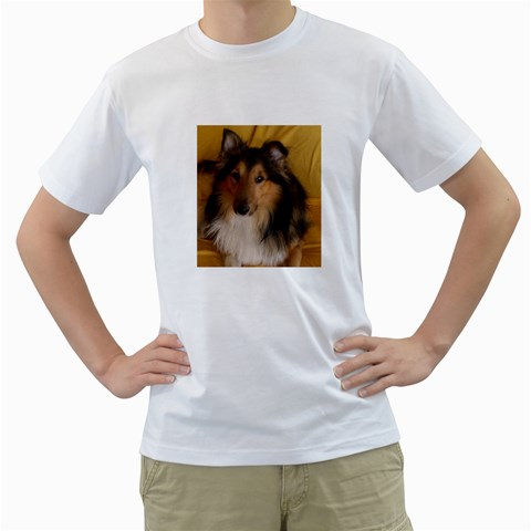 Shetland Sheepdog Men s T-Shirt (White)