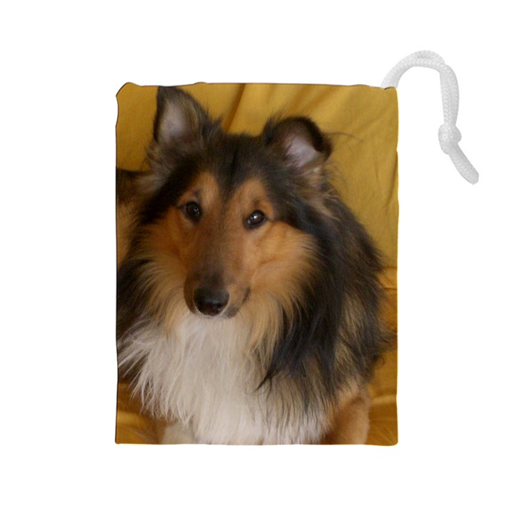 Shetland Sheepdog Drawstring Pouches (Large)