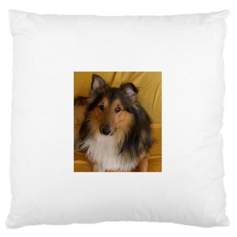 Shetland Sheepdog Large Flano Cushion Case (One Side)