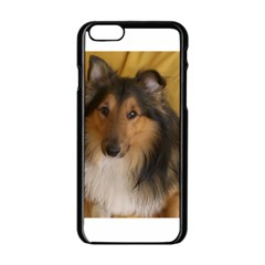 Shetland Sheepdog Apple iPhone 6/6S Black Enamel Case