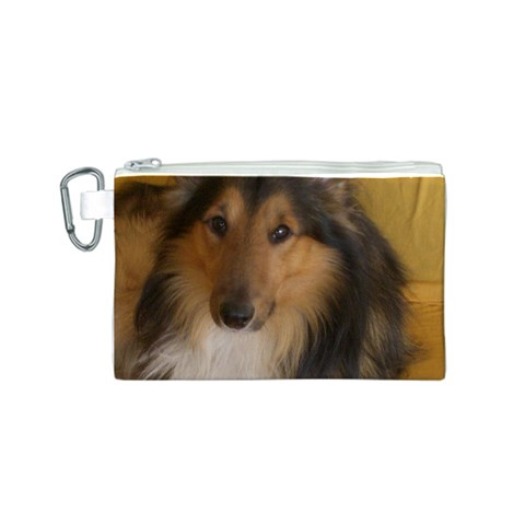 Shetland Sheepdog Canvas Cosmetic Bag (S)