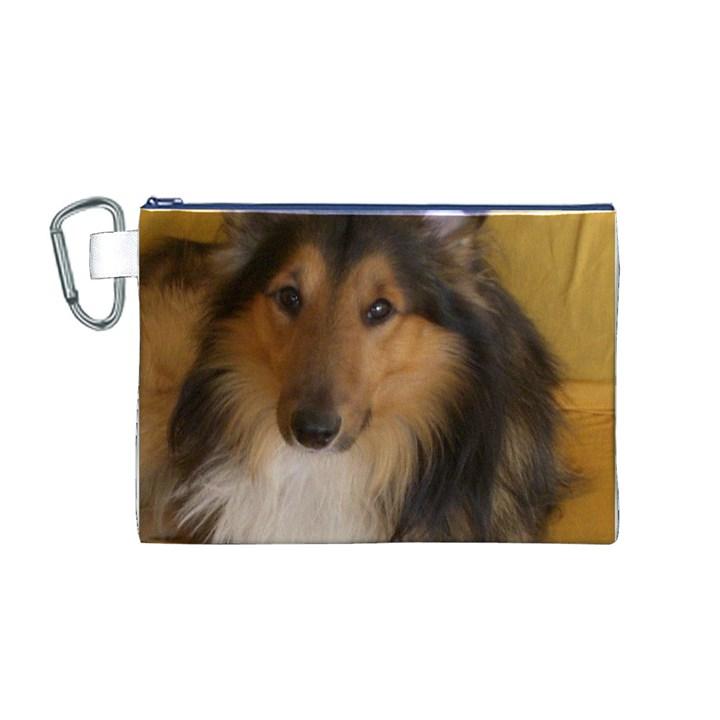 Shetland Sheepdog Canvas Cosmetic Bag (M)