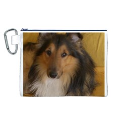 Shetland Sheepdog Canvas Cosmetic Bag (L)