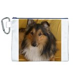 Shetland Sheepdog Canvas Cosmetic Bag (XL) Front