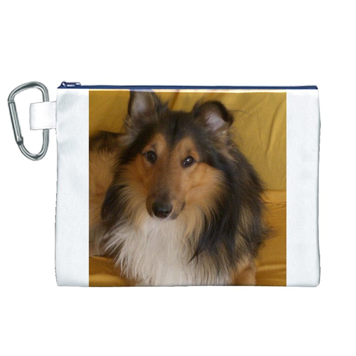 Shetland Sheepdog Canvas Cosmetic Bag (XL)
