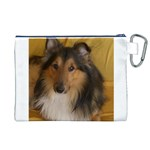Shetland Sheepdog Canvas Cosmetic Bag (XL) Back