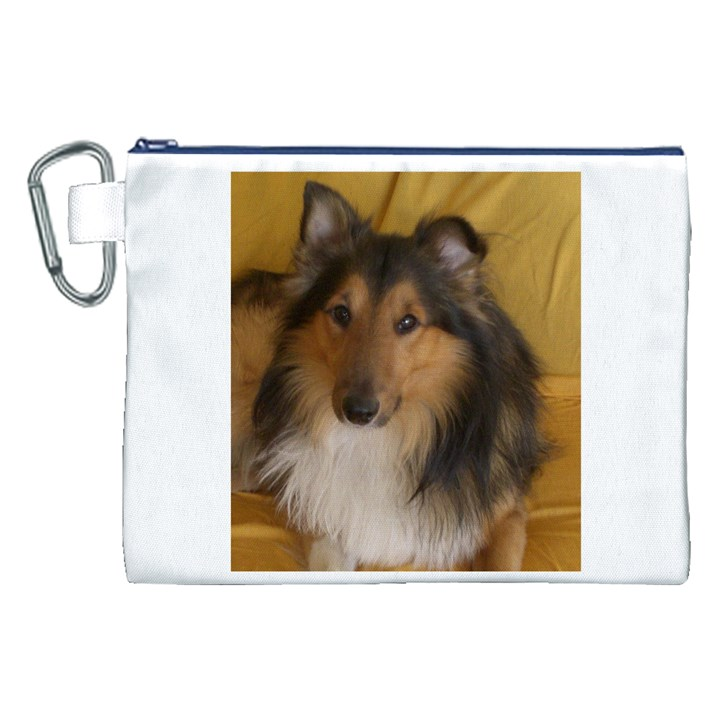Shetland Sheepdog Canvas Cosmetic Bag (XXL)