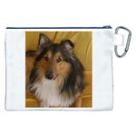 Shetland Sheepdog Canvas Cosmetic Bag (XXL) Back