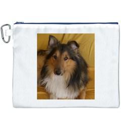 Shetland Sheepdog Canvas Cosmetic Bag (XXXL)