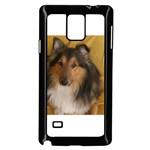 Shetland Sheepdog Samsung Galaxy Note 4 Case (Black) Front