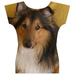 Shetland Sheepdog Women s V-Neck Cap Sleeve Top Back