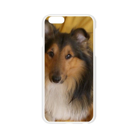 Shetland Sheepdog Apple Seamless iPhone 6/6S Case (Transparent)