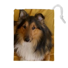 Shetland Sheepdog Drawstring Pouches (Extra Large)