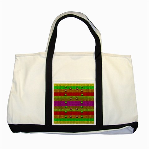 A Wonderful Rainbow And Stars Two Tone Tote Bag