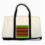 A Wonderful Rainbow And Stars Two Tone Tote Bag Front
