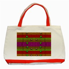 A Wonderful Rainbow And Stars Classic Tote Bag (Red)