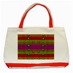 A Wonderful Rainbow And Stars Classic Tote Bag (Red) Front