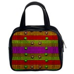 A Wonderful Rainbow And Stars Classic Handbags (2 Sides) Front