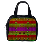 A Wonderful Rainbow And Stars Classic Handbags (2 Sides) Back