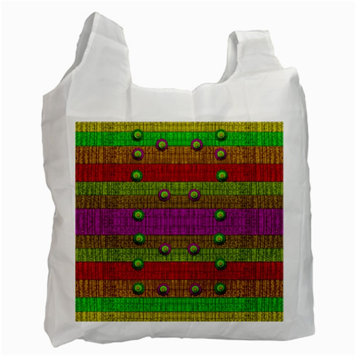 A Wonderful Rainbow And Stars Recycle Bag (Two Side)