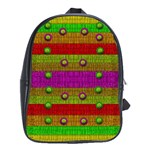 A Wonderful Rainbow And Stars School Bags(Large)  Front
