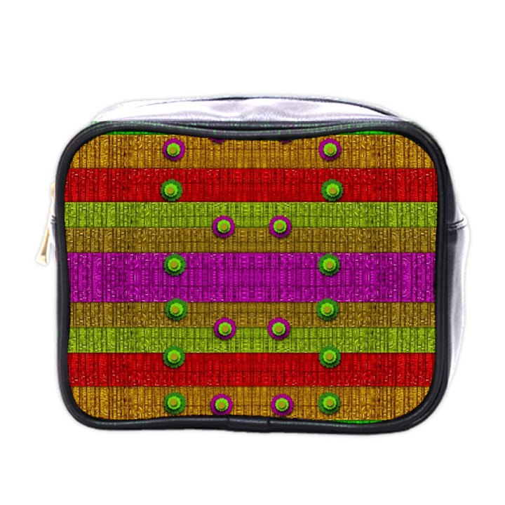 A Wonderful Rainbow And Stars Mini Toiletries Bags