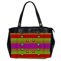 A Wonderful Rainbow And Stars Office Handbags (2 Sides)