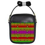 A Wonderful Rainbow And Stars Girls Sling Bags Front