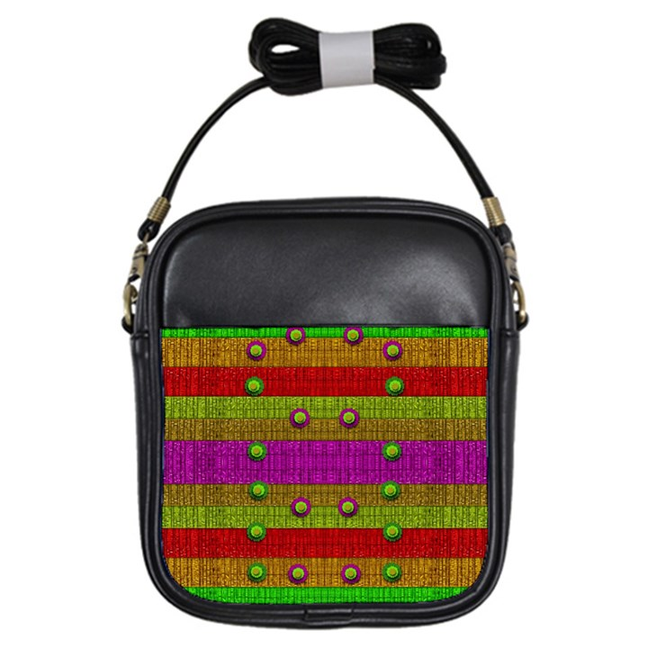 A Wonderful Rainbow And Stars Girls Sling Bags