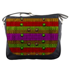A Wonderful Rainbow And Stars Messenger Bags