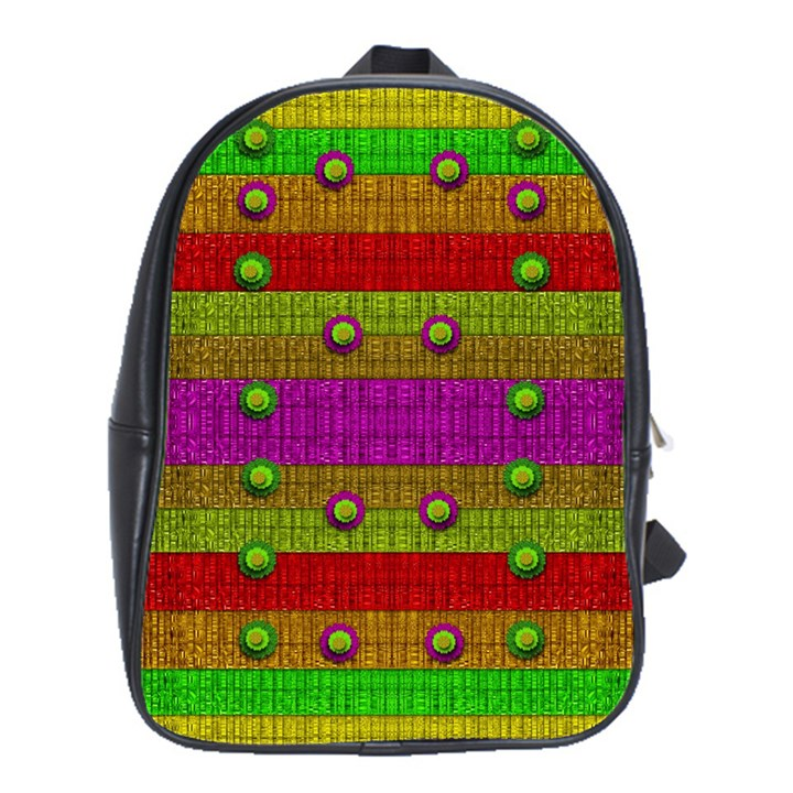 A Wonderful Rainbow And Stars School Bags (XL)