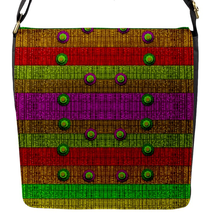 A Wonderful Rainbow And Stars Flap Messenger Bag (S)