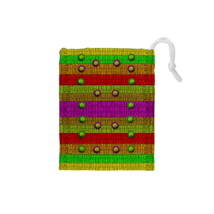 A Wonderful Rainbow And Stars Drawstring Pouches (Small)