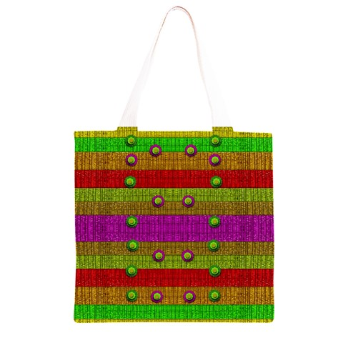 A Wonderful Rainbow And Stars Grocery Light Tote Bag