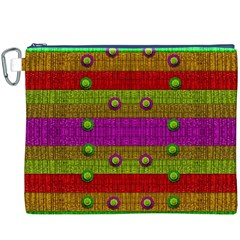 A Wonderful Rainbow And Stars Canvas Cosmetic Bag (XXXL)