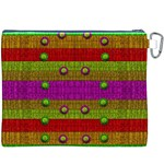 A Wonderful Rainbow And Stars Canvas Cosmetic Bag (XXXL) Back