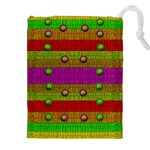 A Wonderful Rainbow And Stars Drawstring Pouches (XXL) Front
